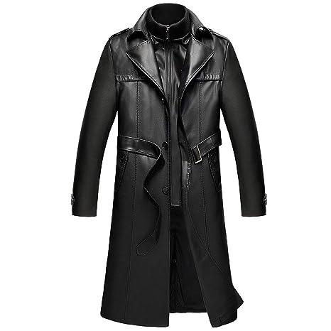 Cappotto Senza Collare Con Tasche Nero