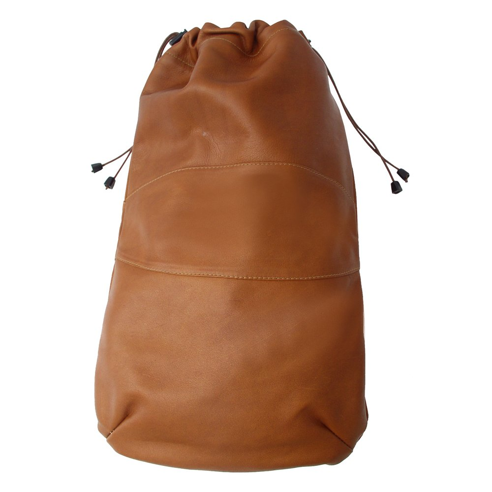 Piel Leather Drawstring Shoe Bag, Saddle, One Size by Piel Leather