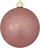 Christmas By Krebs CBK25964 Shatterproof UV-Resistant Christmas Ball Ornaments 6'' Rose Glitter 12 Piece