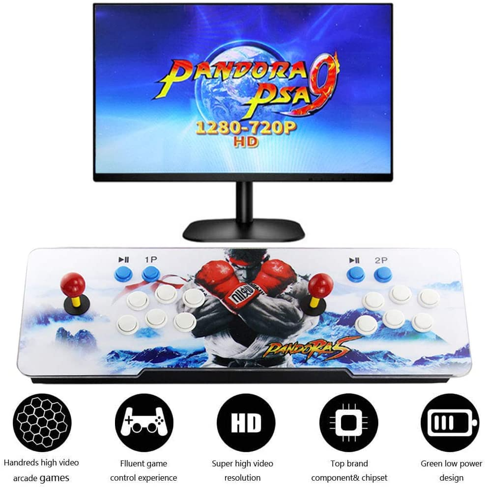 SupYaque Pandora Box Video Arcade Games Console Pandora's Box 9 Built-in 2222 Retro Games,Search Games Function,Favorite List,HDMI VGA USB to Connect