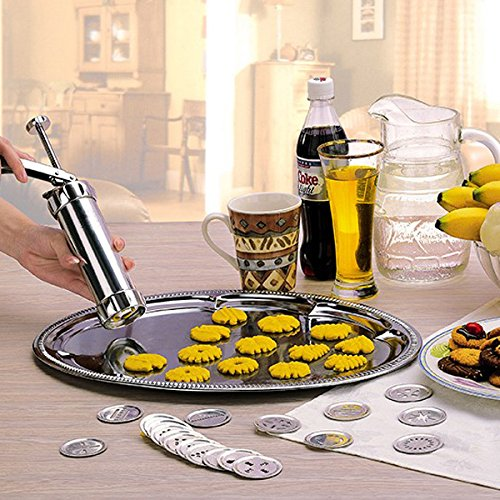 Cookie Press Set, SENREAL Household Manual Biscuit Machine Biscuit Cake Mold Set Decorating Gun