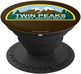 Twin Peaks Sheriff Department Mountain Scene - PopSockets Grip and Stand for Phones and Tablets