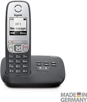 Gigaset A415A - Teléfono inalámbrico DECT, 50 m, 300 m, 100 entradas, Negro [En alemán]: Amazon.es: Electrónica