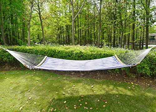 Patio Watcher 14 FT Quick Dry Hammock Folding Curved Bamboo Spreader Bar Portable Hammock
