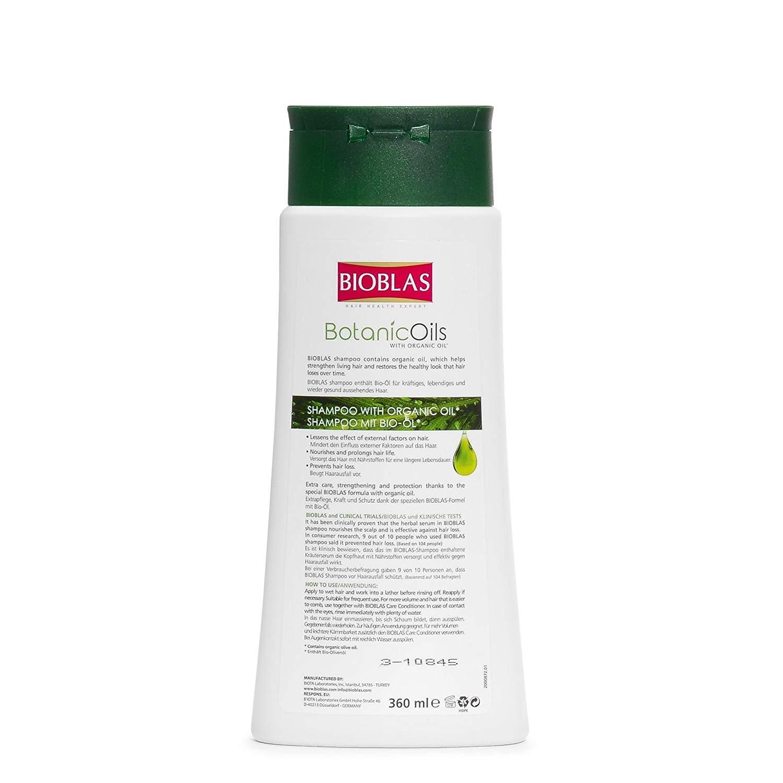 Champú de ajo de Bioblas Botanic Oils, inodoro, y dermatológicamente probado, anticaída del pelo, acelera el crecimiento y reduce la pérdida de pelo, ...