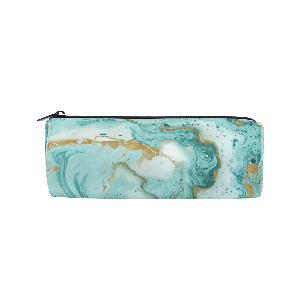 Cooper Girl Turquoise Gold Marble Pencil Bag Pen Case Students Stationery Pouch Zipper Bag for Girls Boys Kids