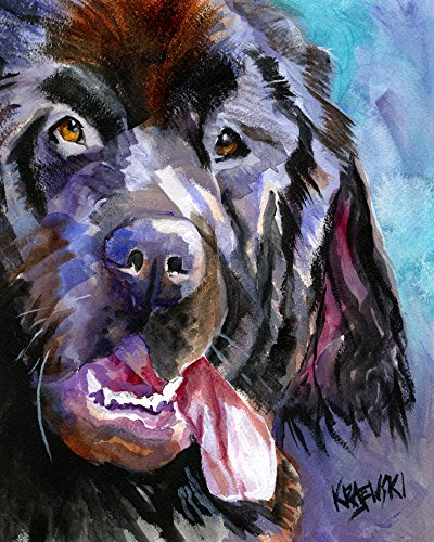- Newfoundland Dog Fine Art Print on 100% Cotton Watercolor Paper Newfie