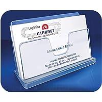Acrimet 731-1CR, Acessório Para Mesa Porta Cartão Visita Classic, Multicolor, pacote de 3