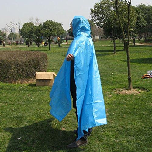Bleu Ultra Poncho Pied Imperméable léger couleur Sur Raincoat Vert Veste Alpinisme Multifonction Outdoor nwF8Xq7a