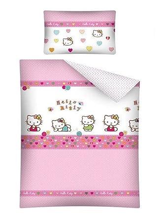 Hello Kitty Baby Bettwäsche 100x135 Cm Kissen 40x60 Cm 100