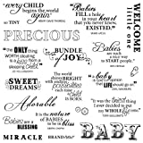 Fiskars 8-Inch by 8-Inch Quote Clear Stamps, Precious Baby