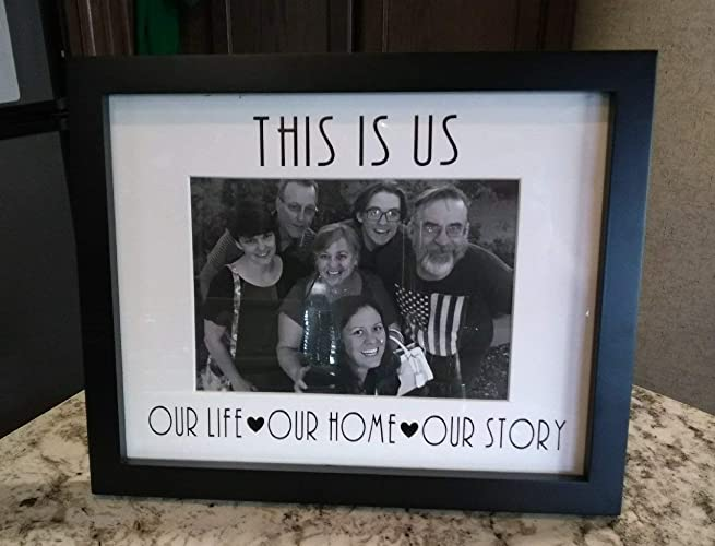 Amazoncom This Is Us Free Standinghanging Picture Frame Handmade