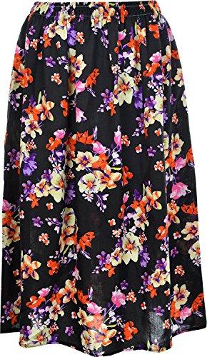 KK Fashion Lines - Falda - para mujer Peach Black