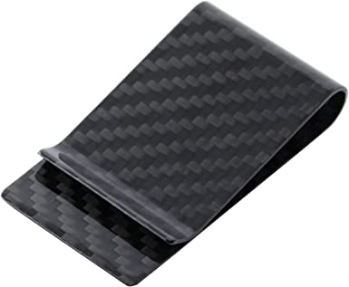 Durable Carbon Fiber Money Clip Glossy Matte Card Cash Wallet Holder