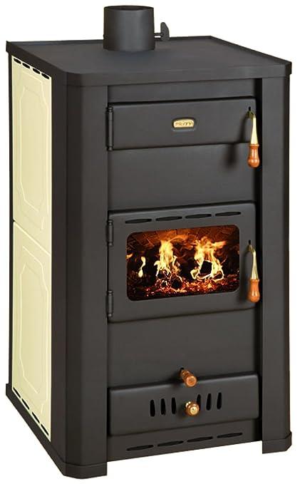 Calentador de agua para estufa chimenea Multifuel quemador de leña Prity s3 W21
