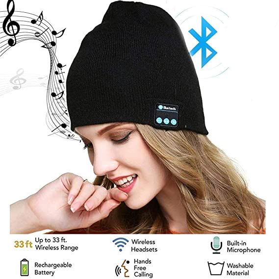 b7ec8281fe7 Amazon.com  Wireless Bluetooth Beanie Hat