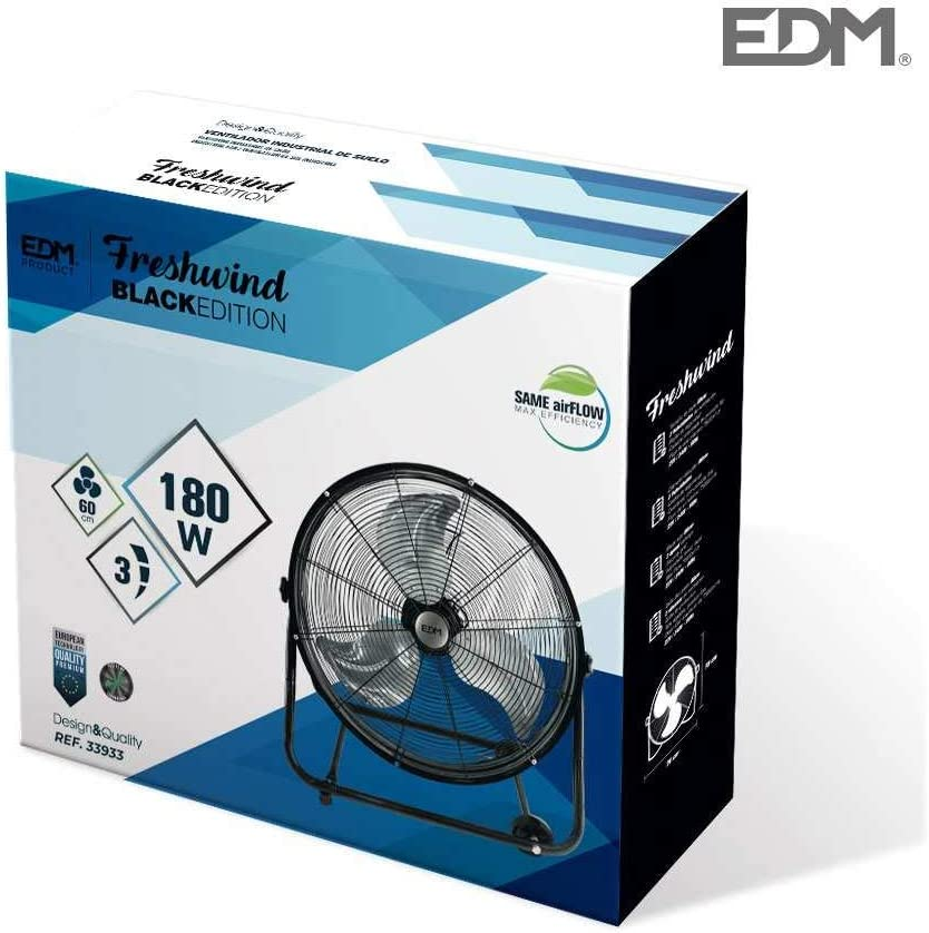 EDM Ventilador Industrial DE Suelo Ø60CM 180W: Amazon.es: Grandes ...
