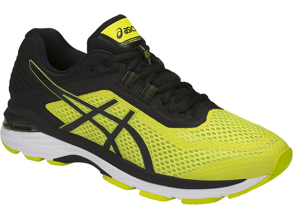 ASICS GT-2000 6 Men's Running Shoe, Sulphur Spring/Black/White, 6 M US