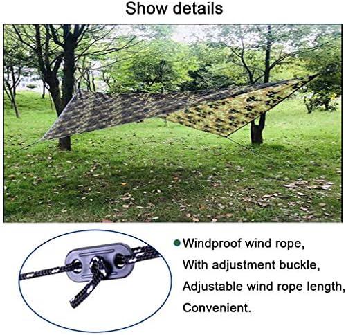 Tentzeil Tent Tarp Hangmat Rain Fly,Draagbare Lichtgewicht Waterdichte Winddichte Kampeeropvang Anti-UV Voor Camping Outdoor Picnic Travel, Verkrijgbaar in Twee Maten