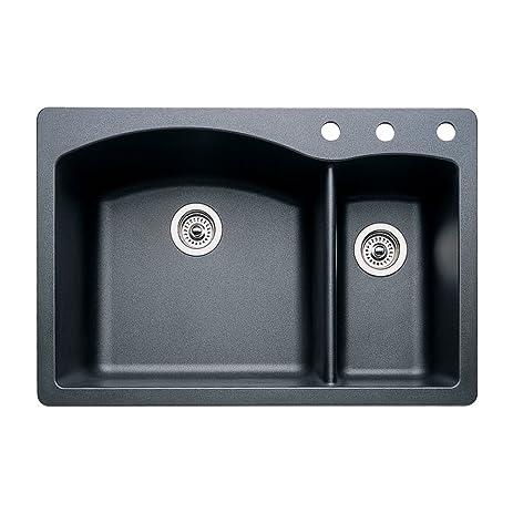 blanco 440199 3 diamond 3 hole double basin drop in or undermount blanco 440199 3 diamond 3 hole double basin drop in or undermount      rh   amazon com