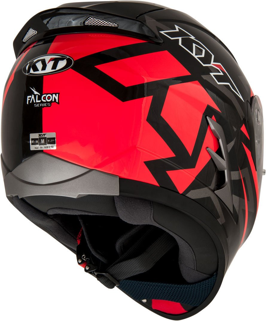 Amazon.es: KYT casco Moto Cross off-road Falcon, Faster Red, talla XL 61 - 62 cm