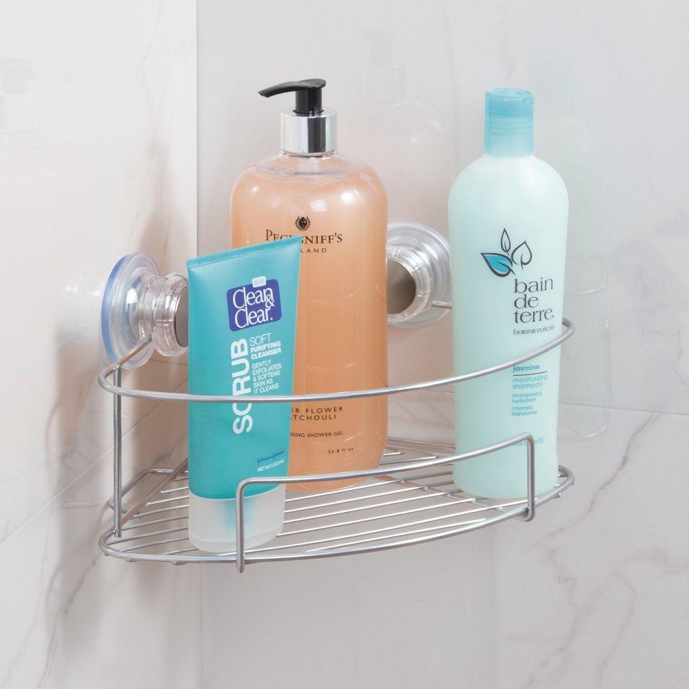 Amazon.com: InterDesign Turn-N-Lock Suction Bathroom Shower Caddy ...
