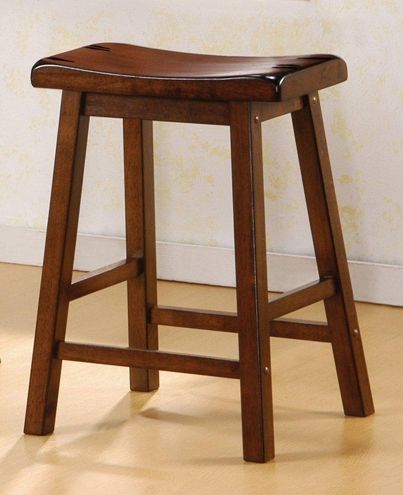 Amazon.com Dark Walnut Finish Bar Stool Wooden Home Barstool Set Kitchen u0026 Dining & Amazon.com: Dark Walnut Finish Bar Stool Wooden Home Barstool Set ... islam-shia.org