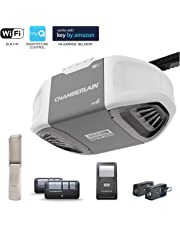 Chamberlain Group C450 Smartphone-Controlled Durable Chain Drive Garage Door Opener with MED Lifting Power, Pewter