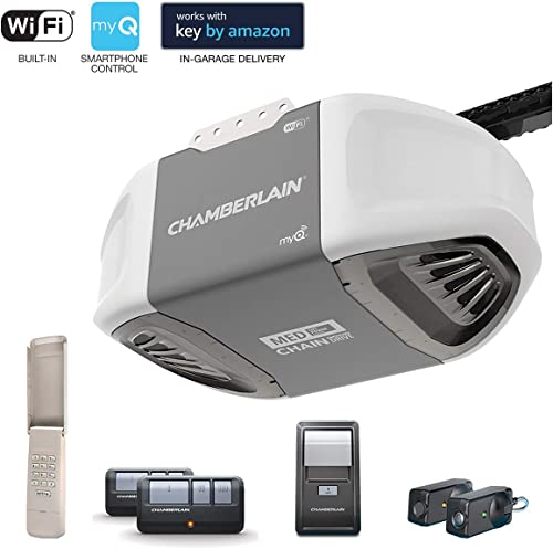 Chamberlain C450 Smartphone-Controlled Durable Chain Drive Garage Door Opener