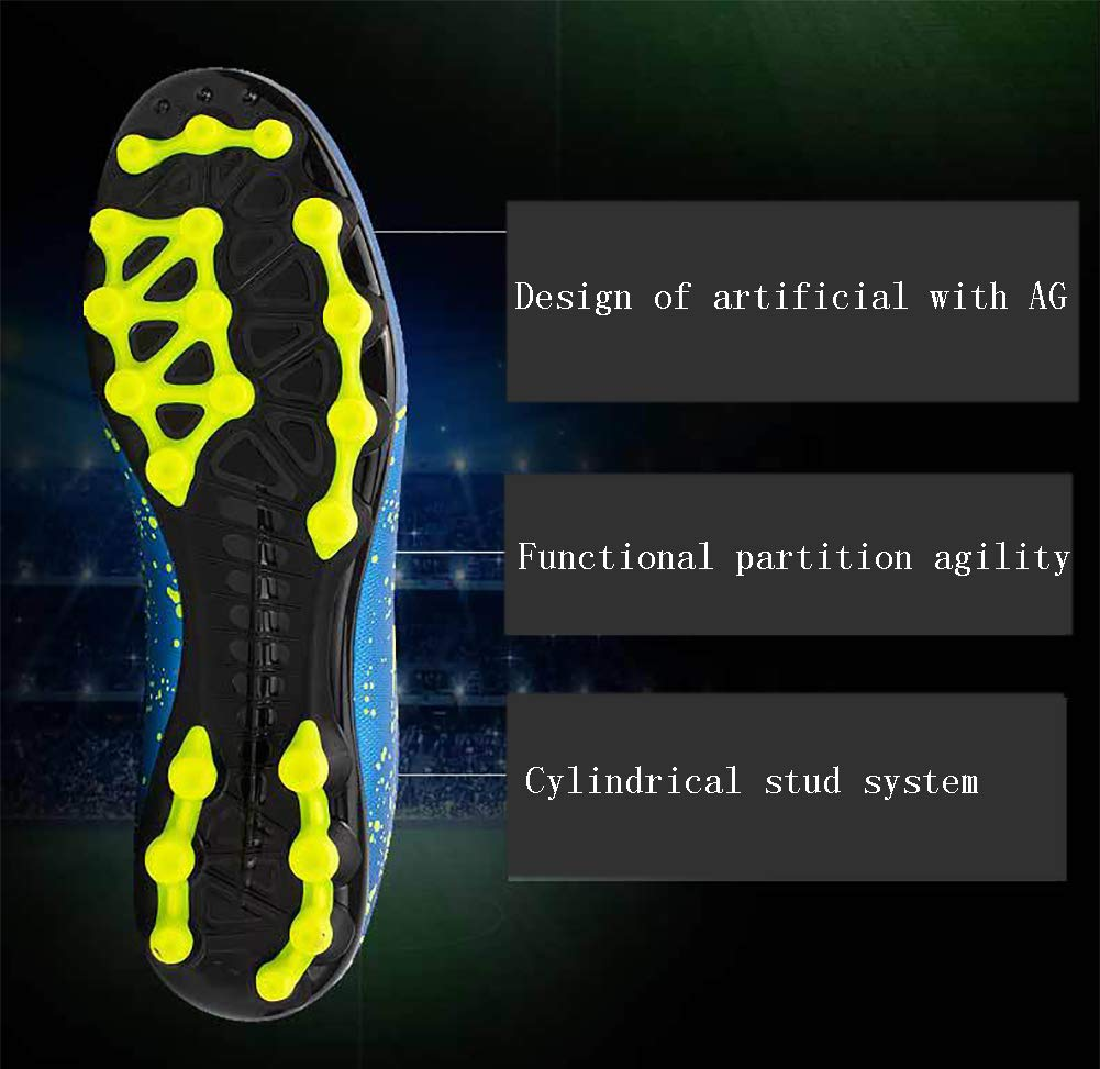 Phciy Botas de F/útbol Transpirables Zapatos de Entrenamiento de Tacos de C/ésped Profesi/ón Entrenadores Atletismo Adolescente Zapatos de Rugby al Aire Libre Unisex