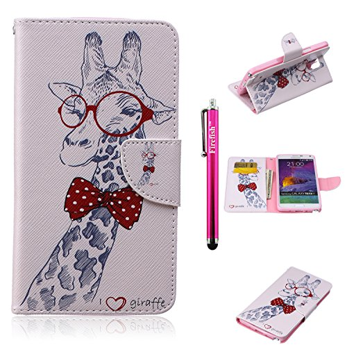 [Note 4 Case, Firefish Scratch-Resistant Case High Grade PU Leather Wallet with Card Slots Kickstand Feature Magnetic Closure Folding Cover Case for Samsung Galaxy Note 4 -] (Homme Costume National)