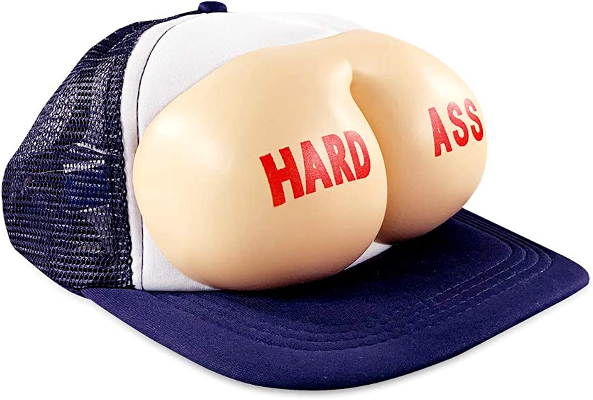 The Office Hard Ass Hat – The Office Merchandise – Memorabilia Inspired by The Office – Funny Trucker Hat Navy Blue