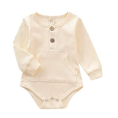 FELZ Mono para bebé niños niñas recién Nacidos 3-24 Meses Body de ...