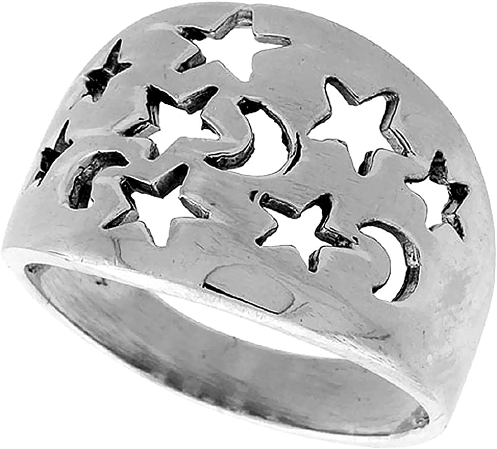 Sterling SPOON RING Bars on Band .925 SILVER Sizes 6.5-9.5