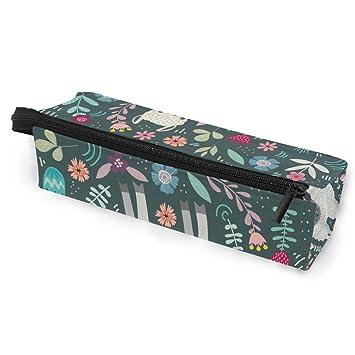 Estuche portátil para gafas de sol con diseño de llamas de alpaca, caja suave para mujeres y niñas, bolsa de almacenamiento para cosméticos, diseño de flores, color rosa y azul: Amazon.es: Oficina