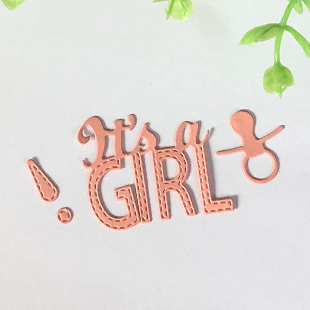 It s a Girl//Boy metal fustelle stencil per scrapbooking fai da te di cartoline/ Silver /Geshiglobal 1#