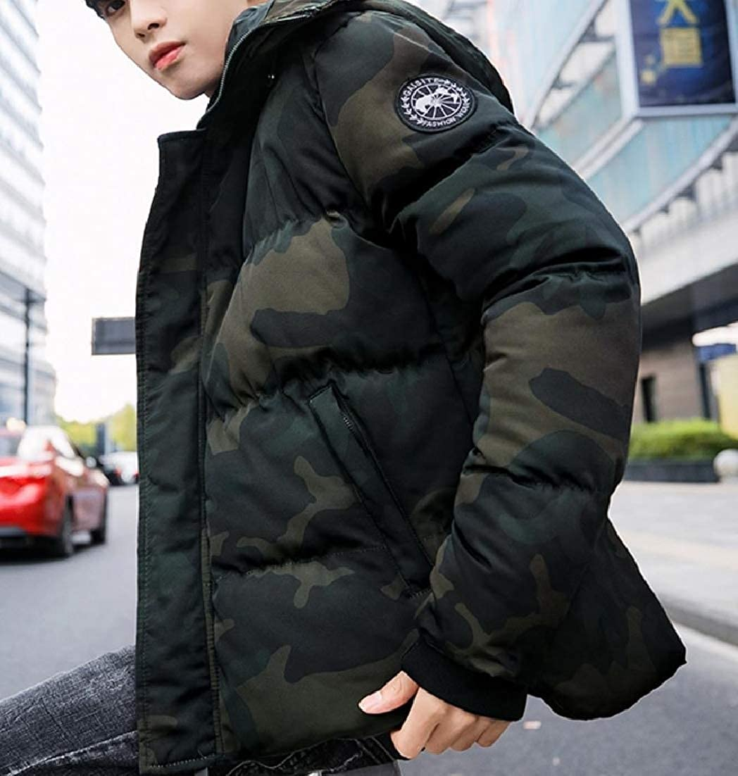 Sebaby Men Brumal Hoodie Pockets Puffer Padded Parka Jacket Coat Outwear