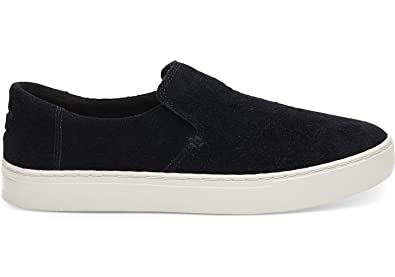 Men's Lomas Slip-On Black Shaggy Suede 10.5 D US