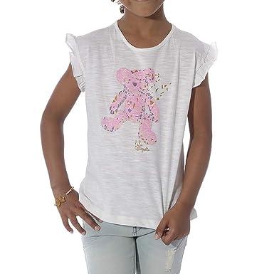 8485f7c319fa5 Lulu Castagnette Chaneze Fille Tee-Shirt Marine  Amazon.fr  Vêtements et  accessoires