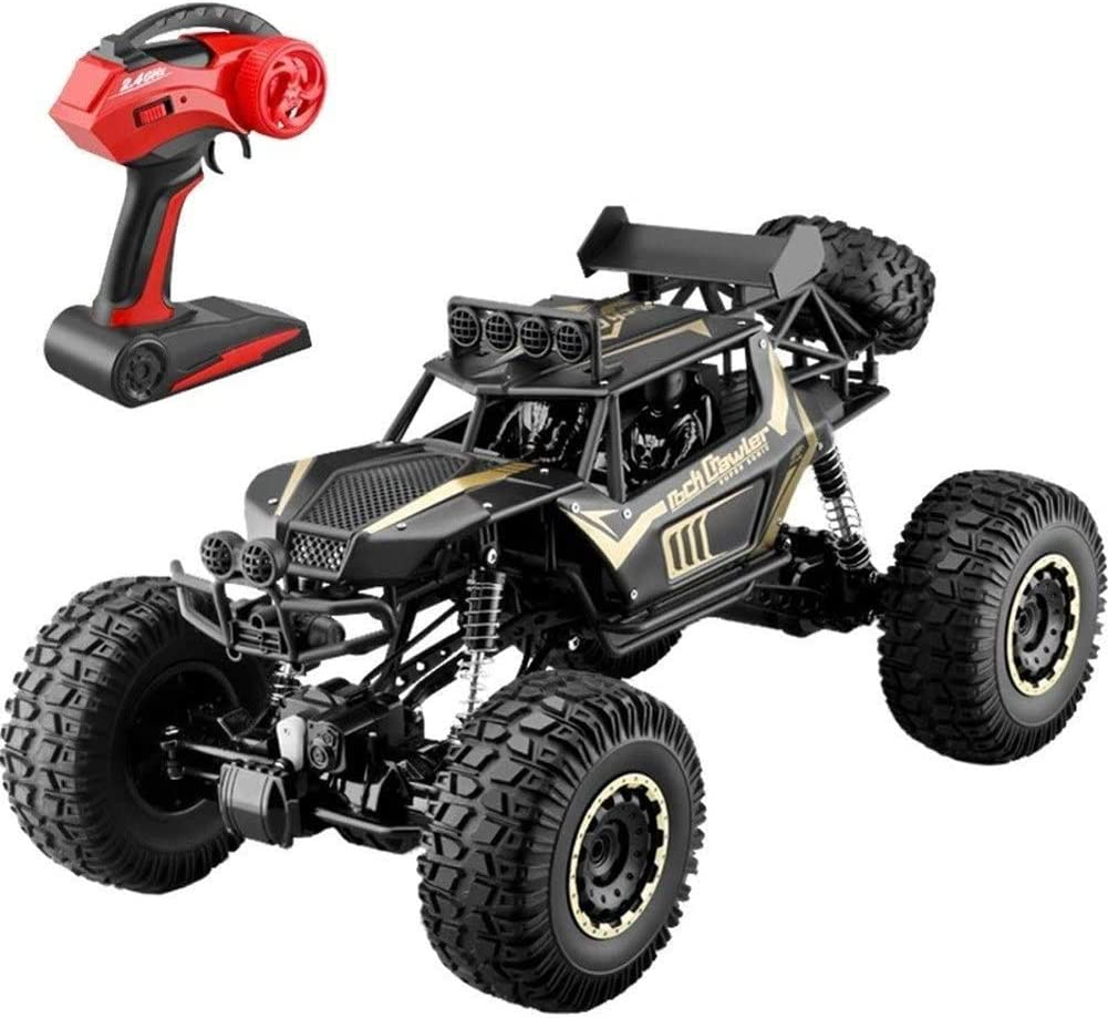 Amazon Com 4wd Off Road Remote Control Car 4x4 Rc Rock Crawler Excitement In Water Mud And Snow Road Monster Trucks 2 4ghz High Speed Remote Control Car Waterproof Toy For Boys Kids Gift Sports