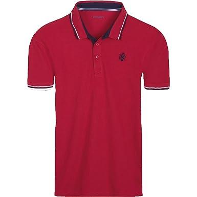 27b9236e9 Livergy New Mens Polo T-Shirt Sailor Plain Printed Short Sleeve Top Tee   Amazon.co.uk  Clothing
