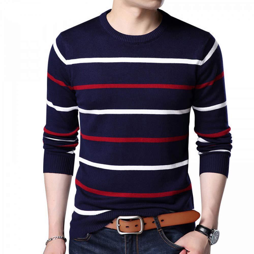FEIDAO Männer Pullover O-Ausschnitt Pullover Männer Marke Kleidung   Herbst Winter Ankunft Pullover Männer Casual Striped Pull Männer