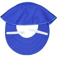 CLISPEED Sombrero Duro Casco Parasol Casco Parasol Parasol con Cuello de Malla Completo Sombrilla con Tiras Reflectantes para Mujer Trabajadora Hombre Al Aire Libre