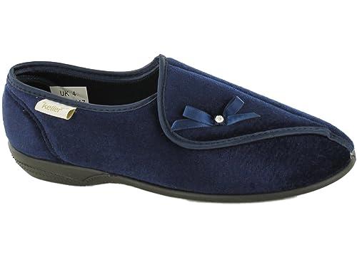 quality design 5434d 0f7e8 Dr Keller - Pantofole da donna foderate in pile modello Dr Hilda, comode  ciabatte ortopediche con chiusura in velcro