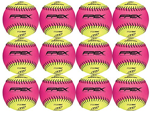 Worth FPEX10SPY 10-Inch Protac Pink and Yellow Training Ball (Pack of 12)