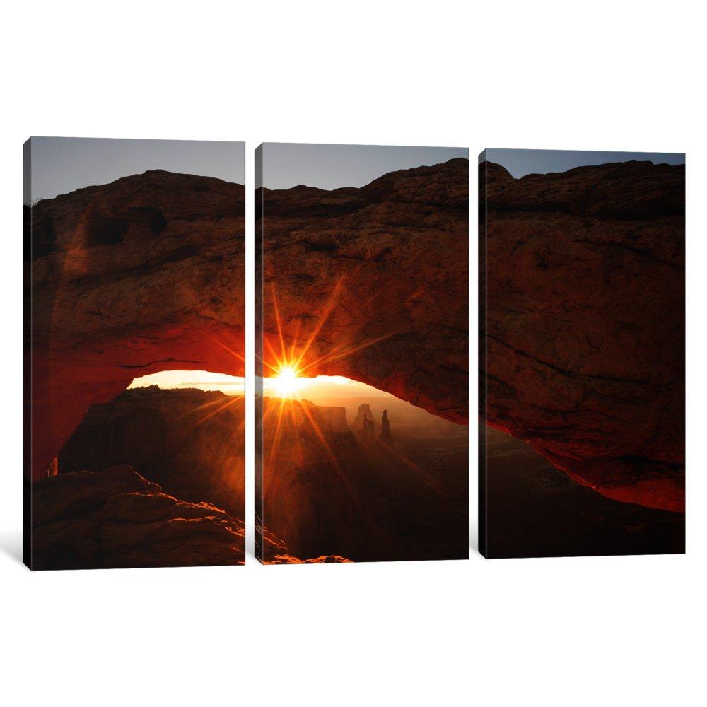 iCanvasART 3 Piece Mesa Arch Beauty Canvas Print by Dan Ballard 60 x 40//0.75 Depth