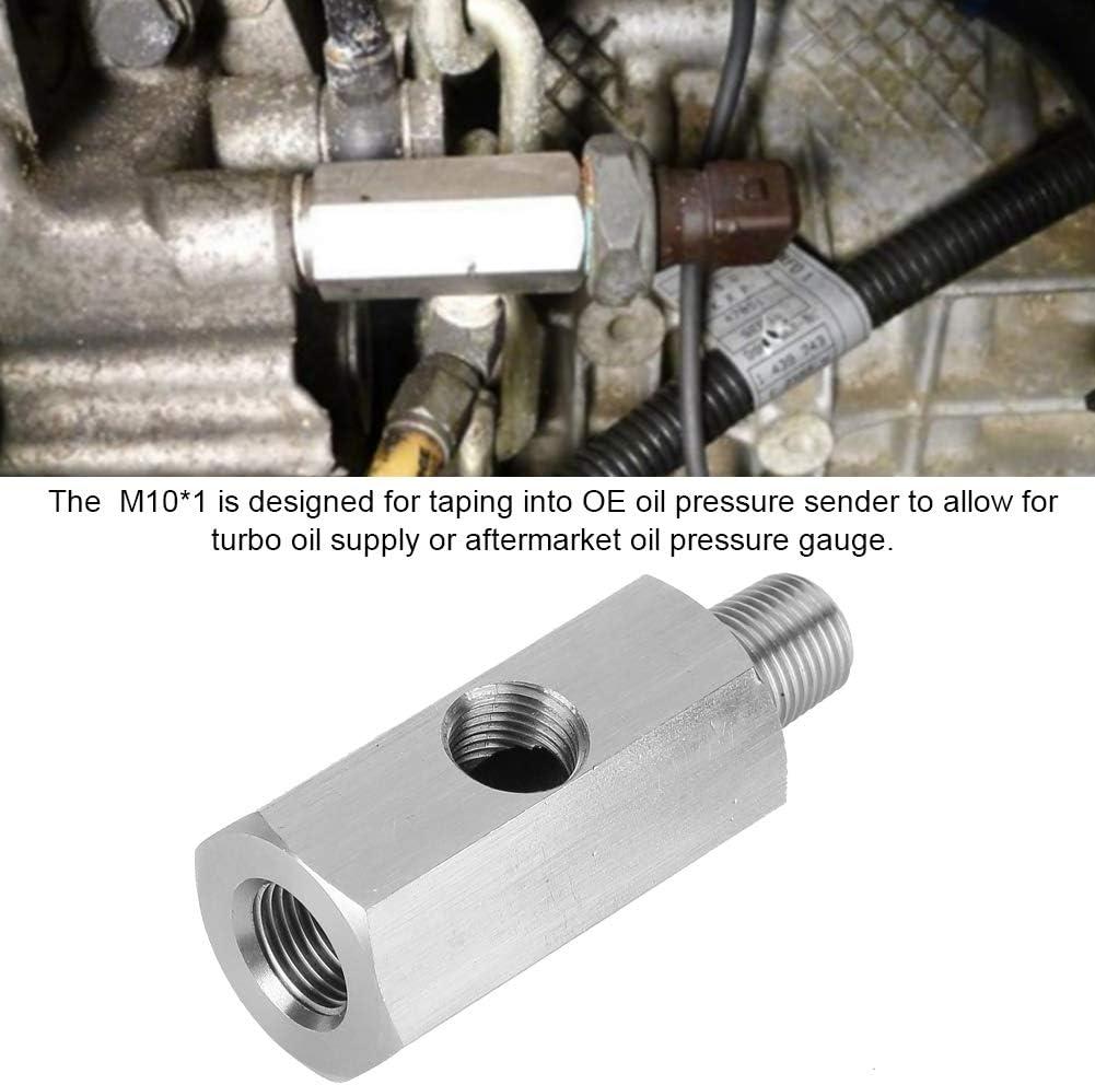 Adattatore sensore pressione olio Suuonee M10 adattatore manometro olio in acciaio inox Tee to NPT Adattatore Turbo