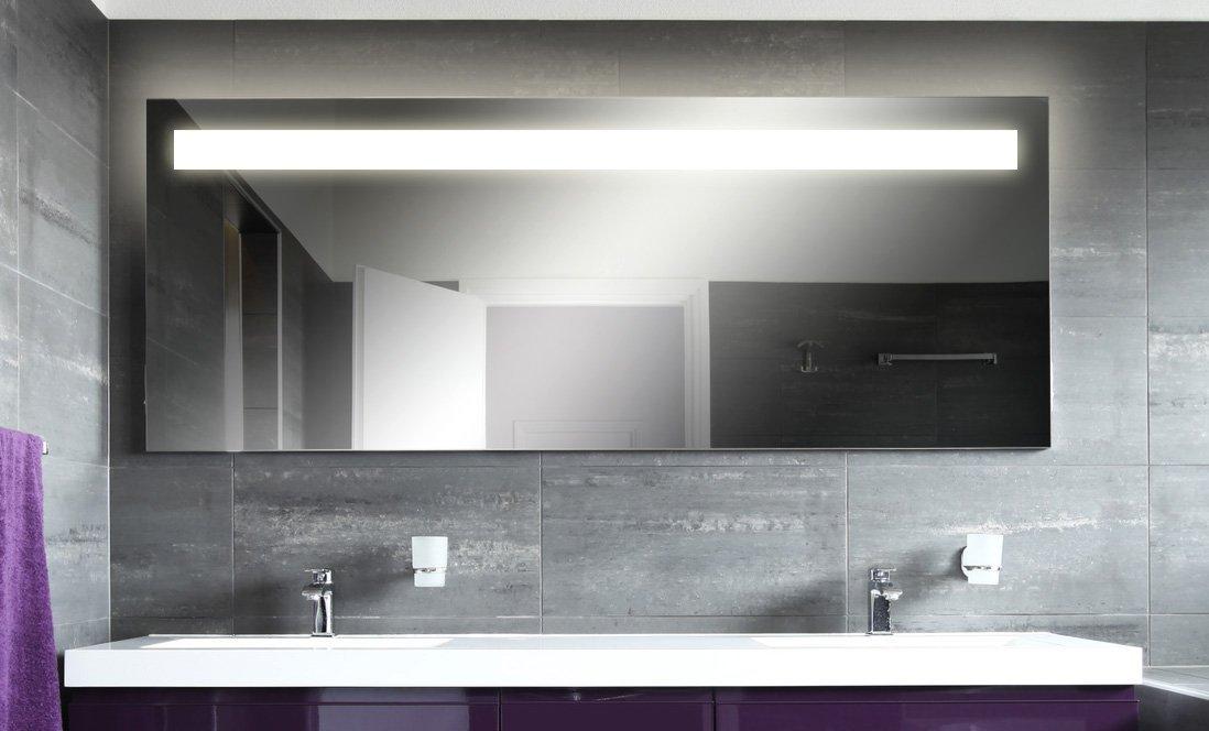 spiegel badezimmer badspiegel mit beleuchtung kairo m41n1 design fa 1 4 r beleuchtet neon licht modern kosmetik toiletten bad badezimmerschrank l