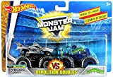 (US) Hot Wheels Monster Jam 1:64 Demolition Doubles 2018 New Look Cyborg Shark vs Crushstation