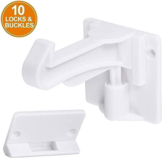 20x CHILD PROOF SAFETY DRAWER LATCH Kitchen Unit Cupboard Door Lock Baby Catch